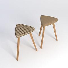 三角凳子模型3d模型