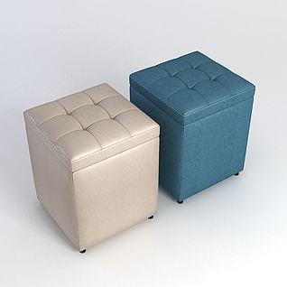 沙发凳模型3d模型