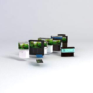 鱼缸模型3d模型