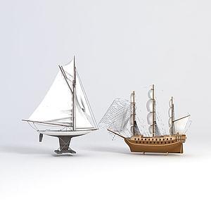 3d裝飾<font class='myIsRed'>帆船</font>模型