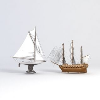 装饰帆船3d模型