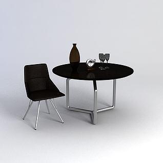 休息桌椅3d模型