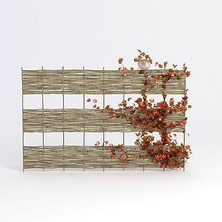 原生态装饰墙3d模型