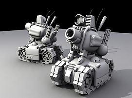 合金弹?#20998;?#30340;小坦克模型