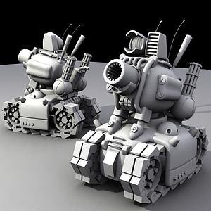 合金彈頭中的小坦克模型3d模型