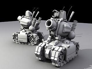 合金弹头中的小坦克模型3d模型