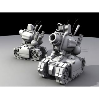 合金弹头中的小坦克3d模型