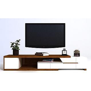 北欧电视柜组合3d模型
