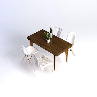 餐桌椅3d模型