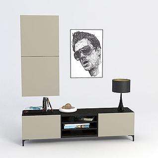 创意厅柜背景墙3d模型3d模型