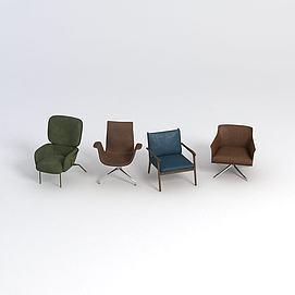 北欧皮?#23454;?#20154;椅模型