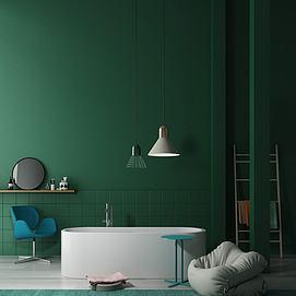 北欧浴缸组合模型