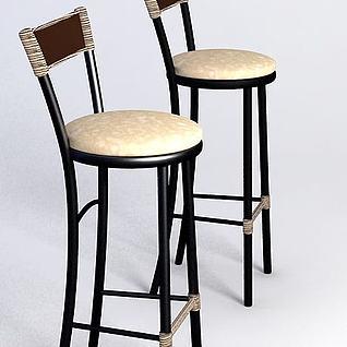 复古高脚凳3d模型