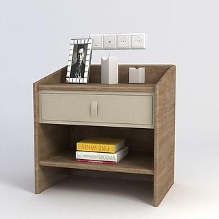 床头柜3d模型