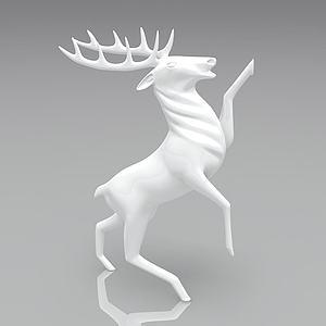 麋鹿裝飾品3d模型