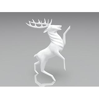 麋鹿装饰品3d模型