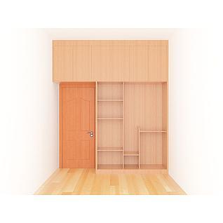 衣柜木门组合3d模型
