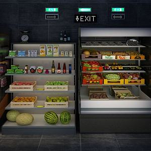 饮料柜模型