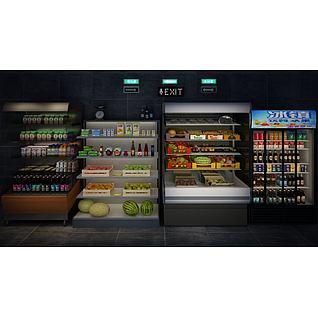 饮料柜3d模型