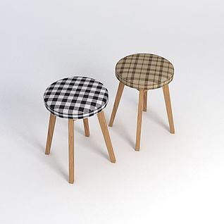 复古板凳模型3d模型