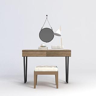 化妆桌椅3d模型