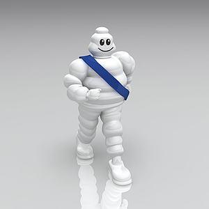 米其林公仔3d模型