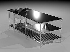 厨房不锈钢工作台模型