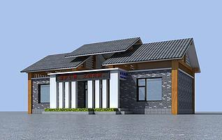 景区公共厕所模型3d模型