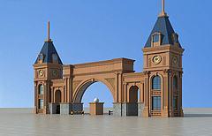 欧式小区大门3D模型3d模型