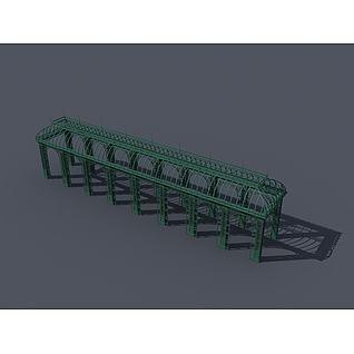 景观廊架3d模型