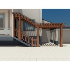 别墅入户廊架3D模型3d模型