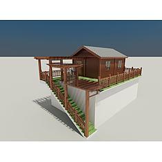 屋顶木屋3D模型3d模型
