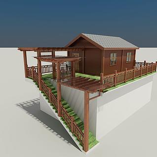 屋顶木屋3d模型