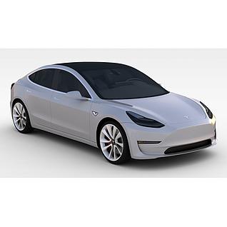 2018款特斯拉Model33d模型