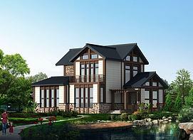日式别墅3d模型