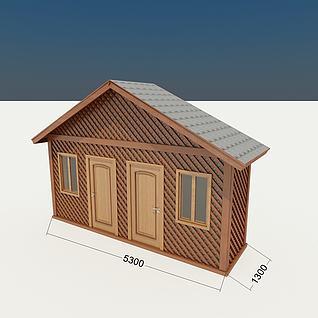 木屋工具房3d模型