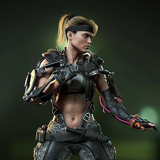 SonyaBlade三维人物3d模型