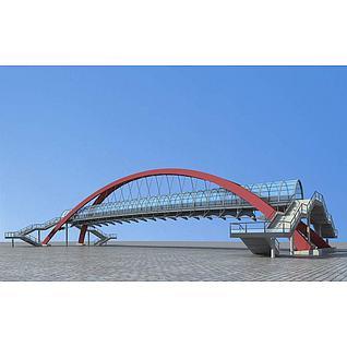 过街天桥3d模型3d模型