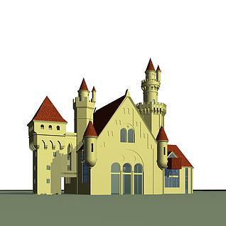 游乐场城堡3d模型