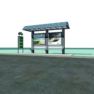 公交站台模型