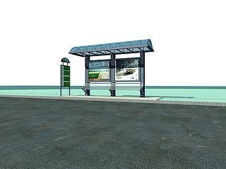 公交站台模型3d模型