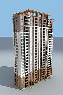 秦禾住宅楼3d模型
