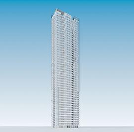 现代高层住宅3d模型