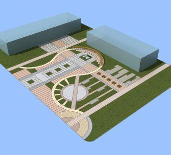 主轴景观广场