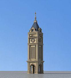 欧式瞭望塔3D模型