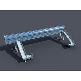 过街天桥3d模型