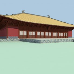 古建大殿3d模型