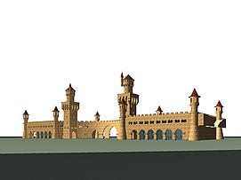 游乐园城堡3d模型