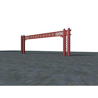 门头3d模型