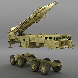 火箭車模型3d模型